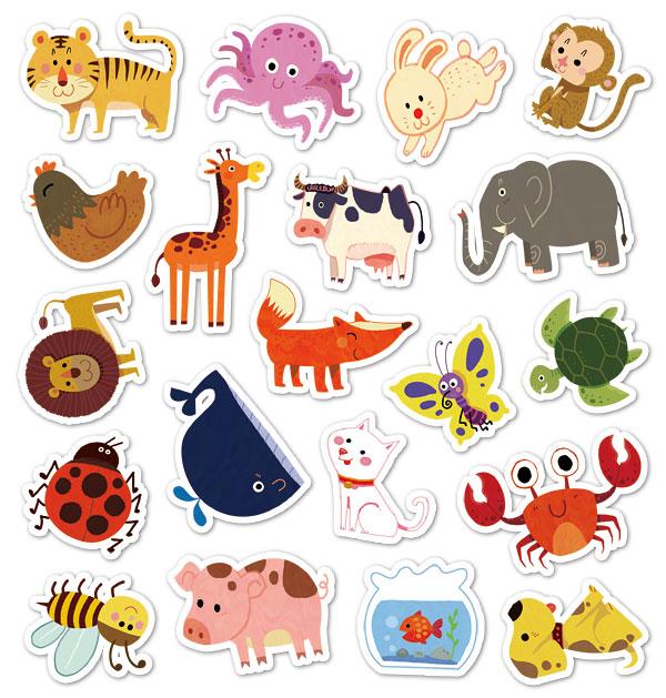 可爱动物-小宝贝认知互动磁铁游戏