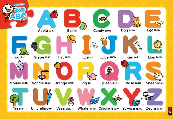 認識ABC-聰明寶寶大拼圖-FOOD超人