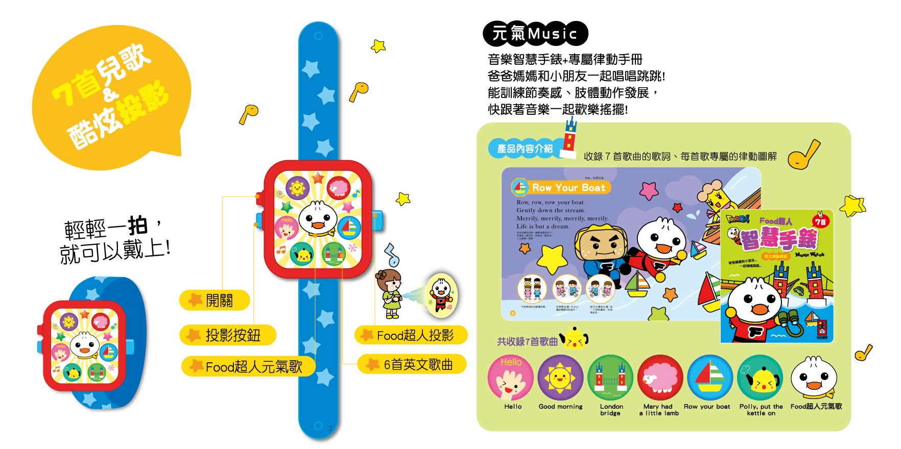 FOOD超人智慧手錶-英文