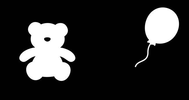 黑白遊戲-小寶貝的視覺‧觸覺認知遊戲P1