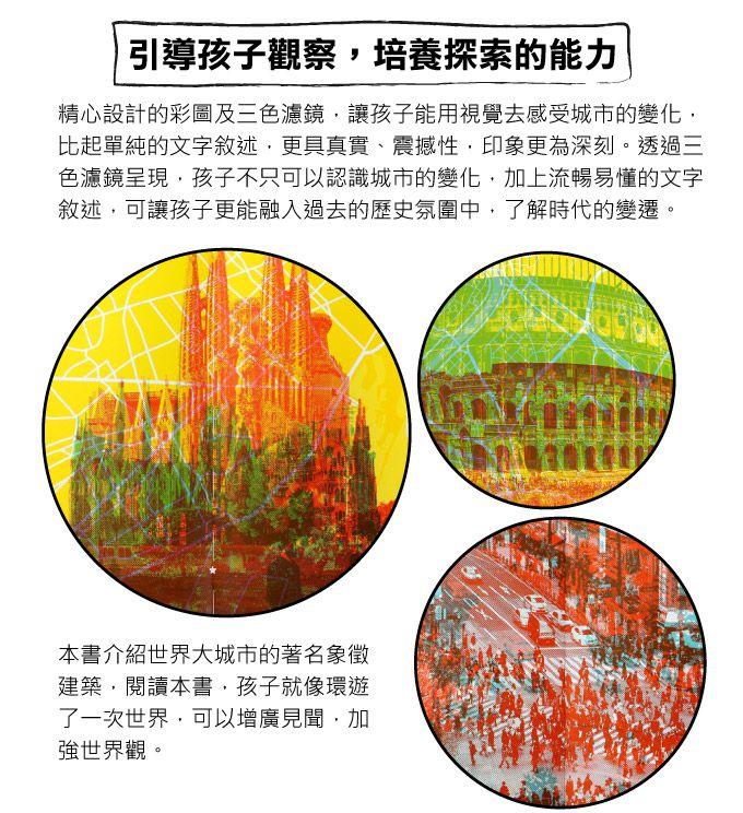 我們的城市 昨日與今日-三色濾鏡書