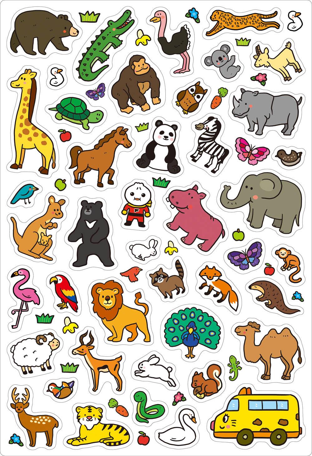 可愛動物-FOOD超人趣味磁鐵遊戲書