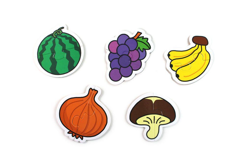 蔬果-FOOD超人幼兒2片拼圖卡