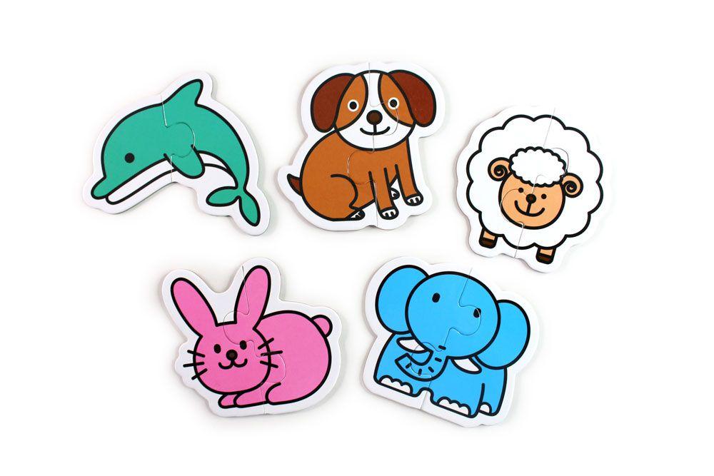 動物-FOOD超人幼兒2片拼圖卡