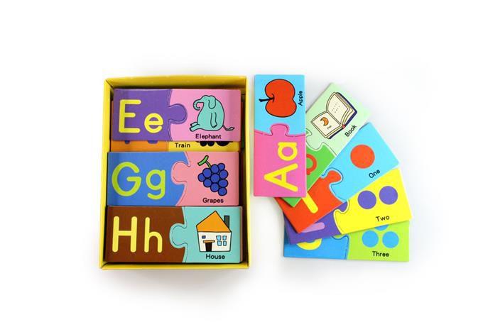 ABC配對卡-FOOD超人基礎學習拼圖遊戲