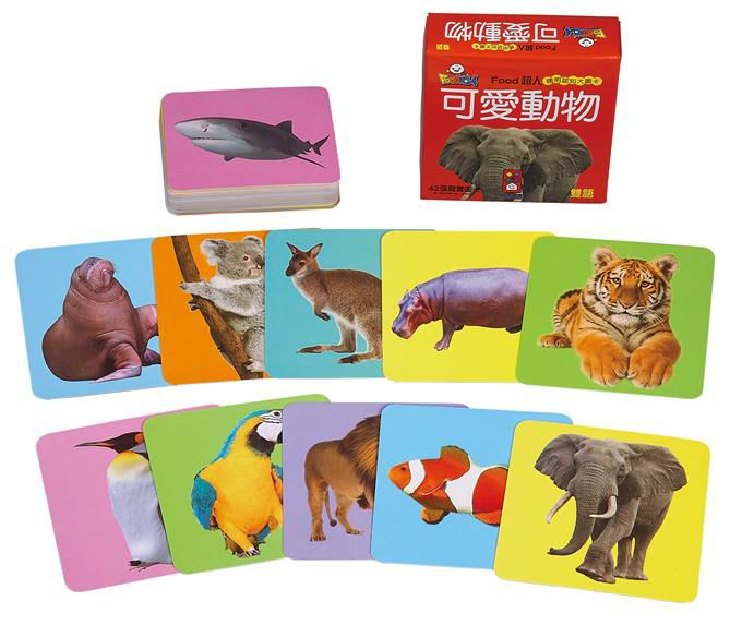FOOD Superman Smart Cognitive Big Picture Card - Cute Animals