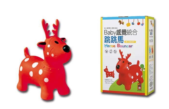 紅色小鹿-Baby感覺統合跳跳馬