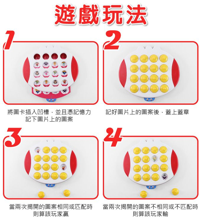 Memory pair game board - FOOD Superman