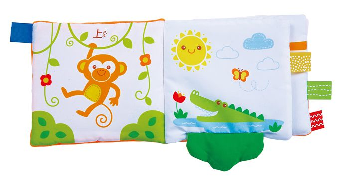 Animal than size - baby's tactile cognitive cloth book P1