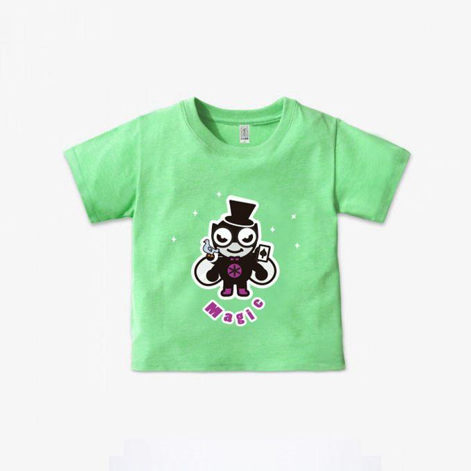 FOOD超人純棉短袖上衣-綠