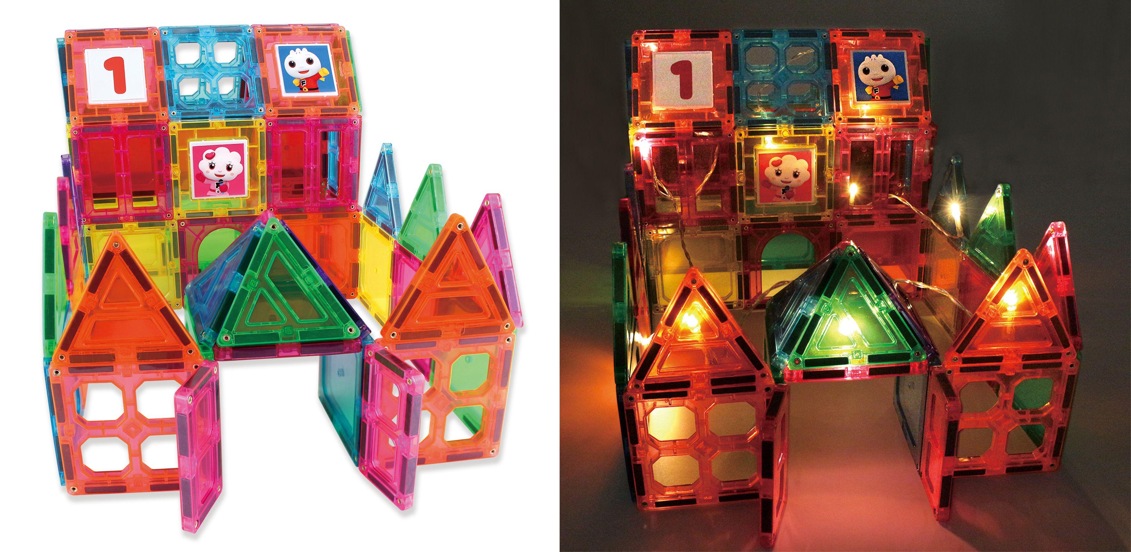 百變歡樂閃亮城堡-FOOD超人創意磁力片