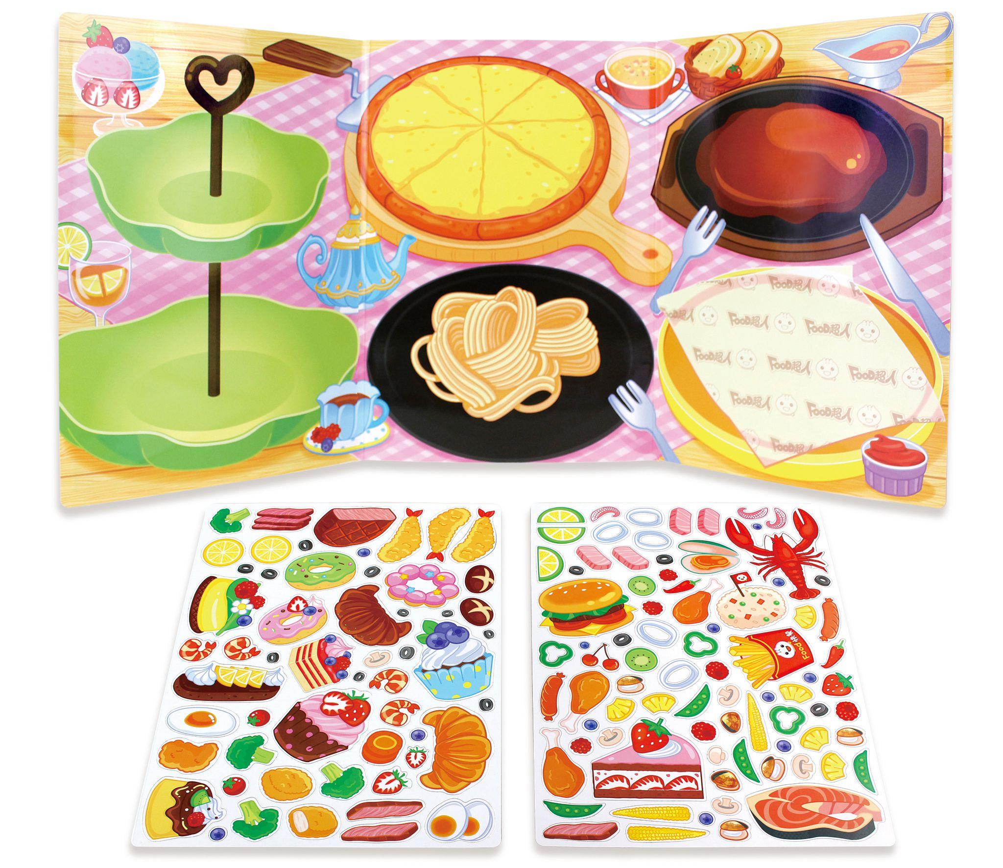 歡樂食物派對-玩創意磁鐵書