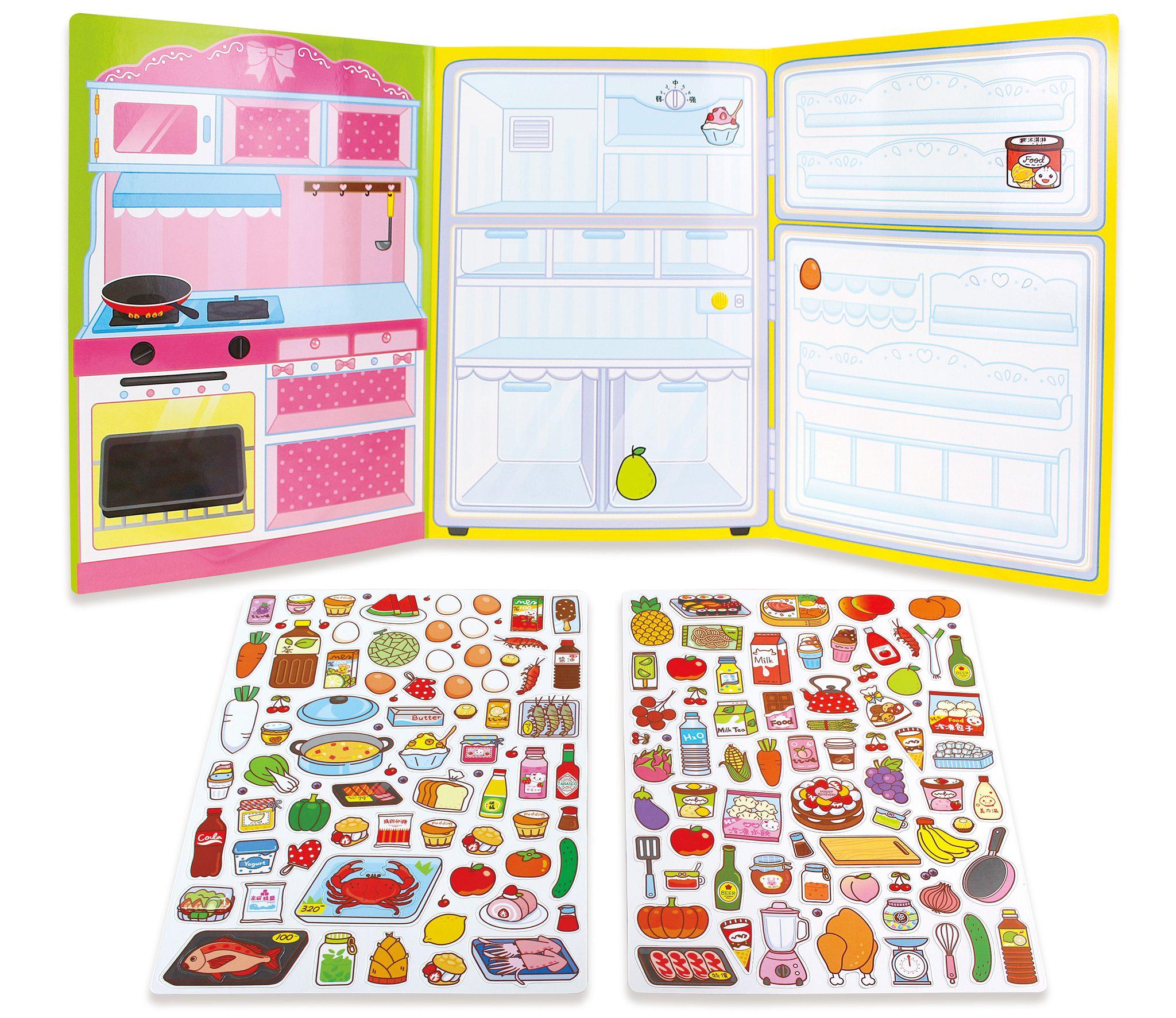 趣味廚房冰箱-玩創意磁鐵書
