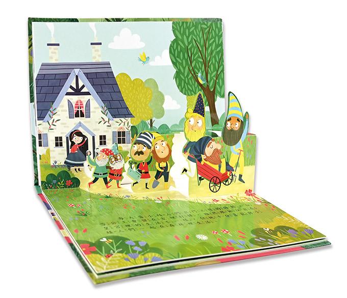 白雪公主-童話繪本立體書
