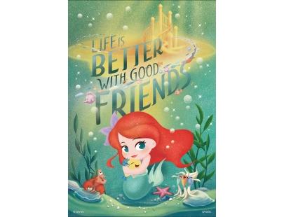 小美人魚(L)迪士尼公主300片盒裝拼圖(QFQ02L)