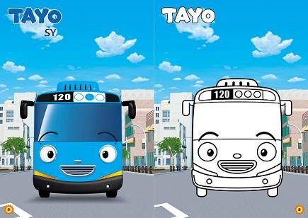 TAYO可愛貼貼畫2(NOT0108B)