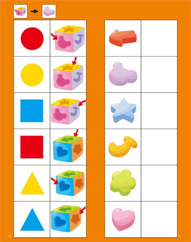 3歲動手動腦對一對(圖形觀察)
