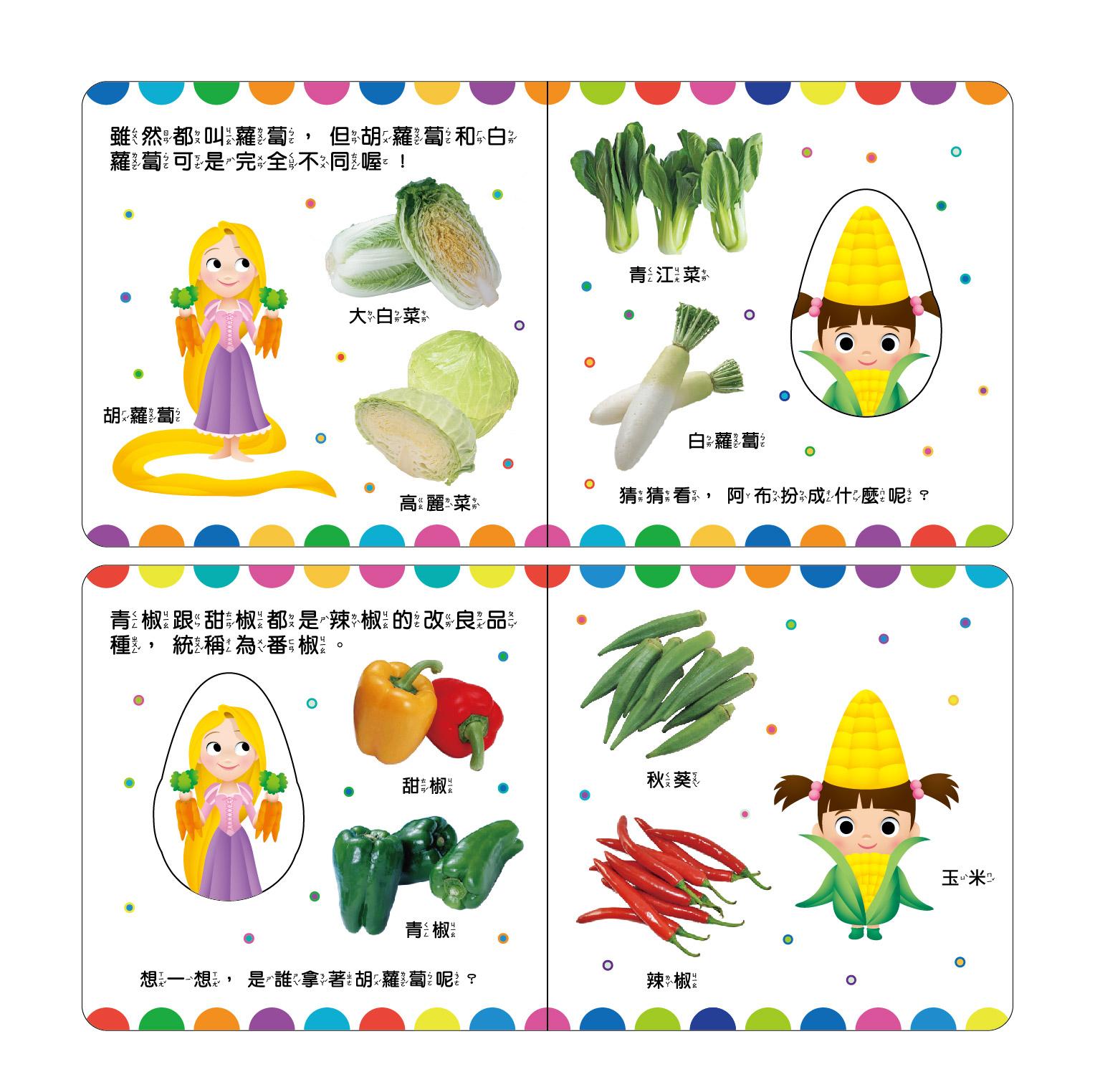 【蔬果】DisneyBaby幼兒認知洞洞書(RD021B)中英雙語
