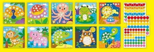 【GBL兒童益智教具】觀察對應貼貼畫—動物樂園