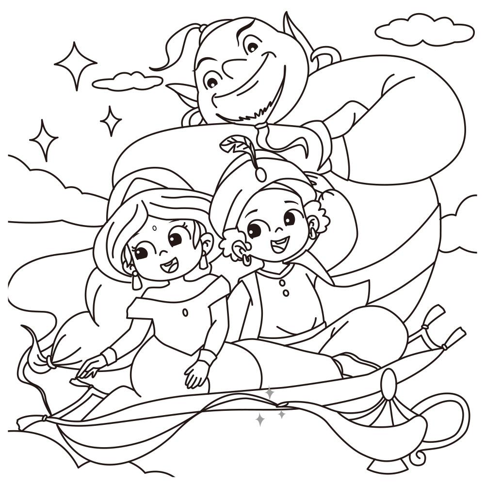 【GBL兒童益智教具】觀察對應貼貼畫—童話王國