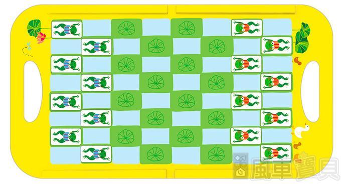 手提磁貼遊戲書組【青蛙跳棋、創意幾何拼圖、毛毛蟲吃蘋果】P3