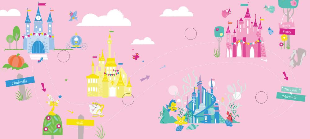 【迪士尼DISNEY-益智教具】撕下黏上,美麗的顏色 (公主系列)