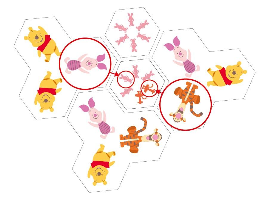 【迪士尼DISNEY-益智教具】 小熊維尼系列-六次方認知學習多米諾(圖形觀察)