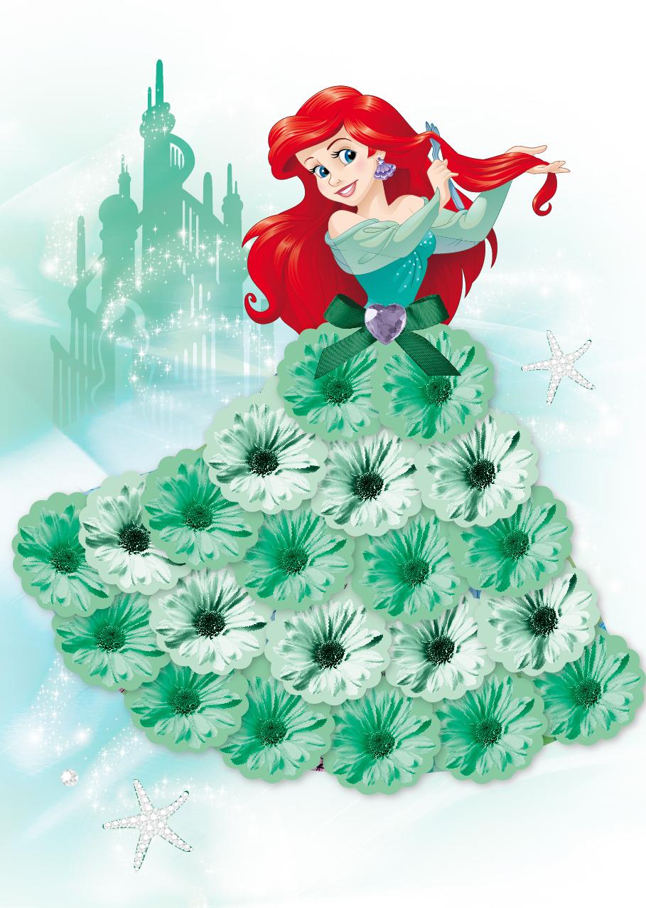 【迪士尼 DISNEY】我是設計師16立體花朵禮服II (愛麗兒+白雪公主)