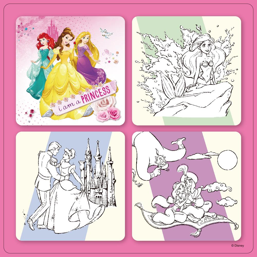 【迪士尼DISNEY-兒童益智教具】解密拼圖2—用貼紙學數字和對應 (公主系列)