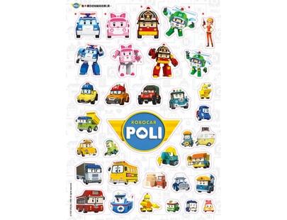波力【交通工具】sticker book(PL024A)