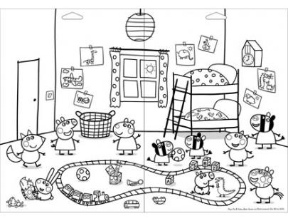 【【在家開派對】粉紅豬小妹立體貼紙(PG003L)