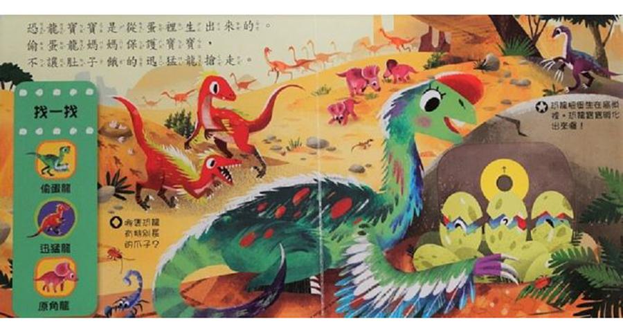 好棒的恐龍世界-推拉轉