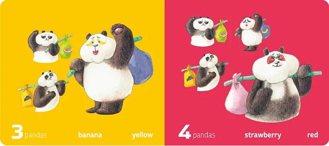 Pandas Love Fruit 熊貓黑白猜 冷藏數字書